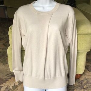 BR SILK CASHMERE SWEATER, EXTRA SMALL